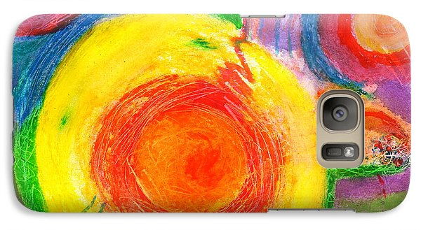 Galaxy Case featuring the painting Circles Ai by Mary Armstrong