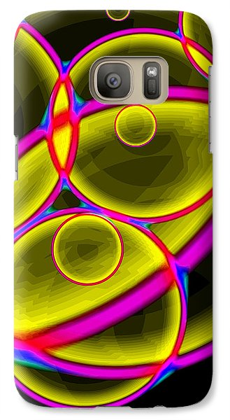 Galaxy Case featuring the digital art Circles by Lola Connelly