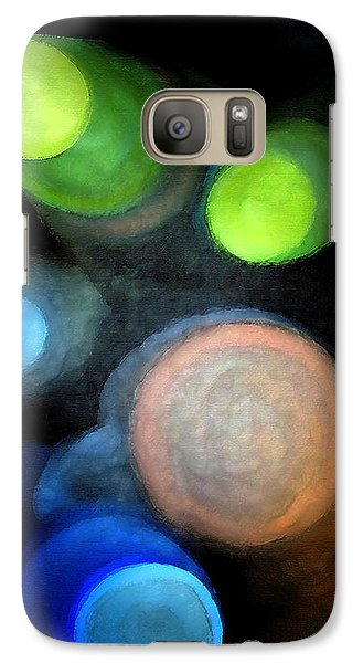 Galaxy Case featuring the digital art Circles Of Light by Saad Hasnain