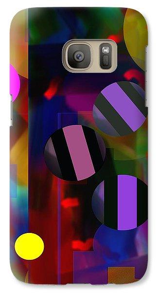 Galaxy Case featuring the digital art Circus Balls by Lynda Lehmann