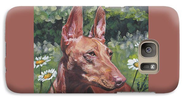 Galaxy Case featuring the painting Cirneco Dell'etna by Lee Ann Shepard
