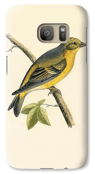 Citril Finch Galaxy S7 Case by English School