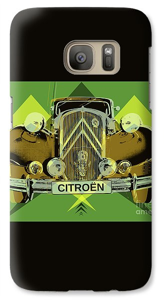Galaxy Case featuring the digital art Citroen Traction Avant  by Jean luc Comperat