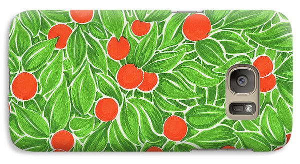 Galaxy Case featuring the drawing Citrus Pattern by Cindy Garber Iverson