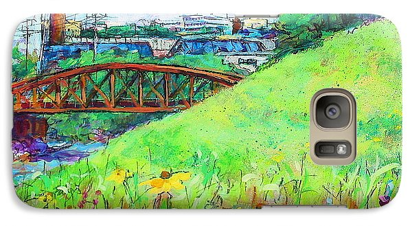Galaxy Case featuring the painting City Fields by Les Leffingwell