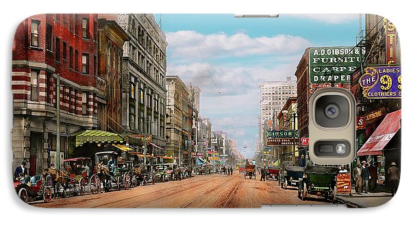 Galaxy Case featuring the photograph City - Memphis Tn - Main Street Mall 1909 by Mike Savad