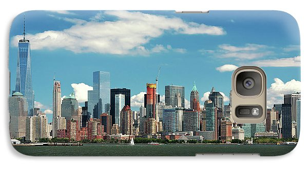 Galaxy Case featuring the photograph City - New York Ny - The New York Skyline by Mike Savad