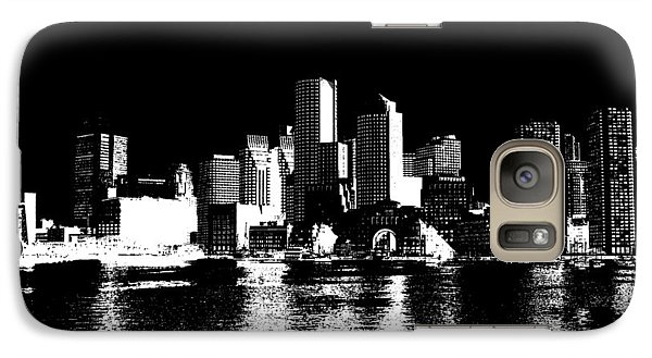 City Of Boston Skyline   Galaxy S7 Case by Enki Art