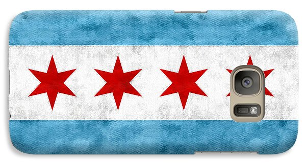 Galaxy S7 Case featuring the mixed media City Of Chicago Flag by Christopher Arndt