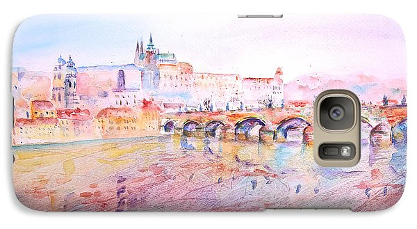 Galaxy Case featuring the painting City Of Prague by Elizabeth Lock
