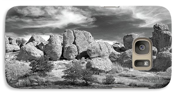 Galaxy Case featuring the photograph City Of Rocks And Sky by Martin Konopacki