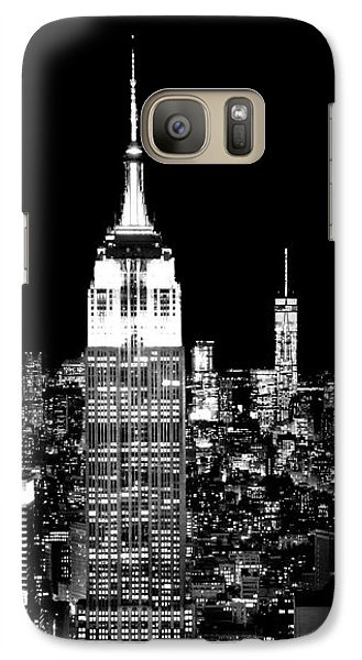 Empire State Building Galaxy S7 Case - City Of The Night by Az Jackson