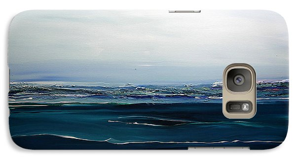Galaxy Case featuring the painting City On The Sea by Dolores  Deal