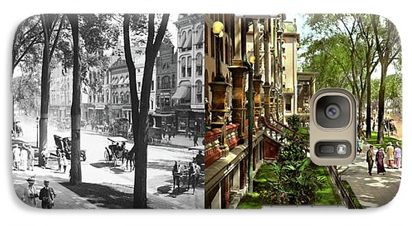 Galaxy Case featuring the photograph City - Saratoga Ny -  I Would Love To Be On Broadway 1915 - Side By Side by Mike Savad
