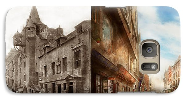 Galaxy Case featuring the photograph City - Scotland - Tolbooth Operator 1865 - Side By Side by Mike Savad