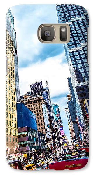 Times Square Galaxy S7 Case - City Sights Nyc by Az Jackson