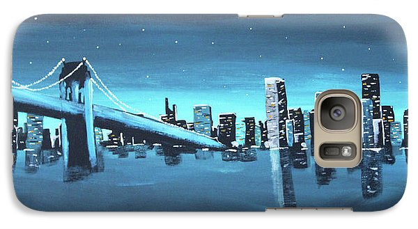 City Skyline Galaxy S7 Case by Cyrionna The Cyerial Artist