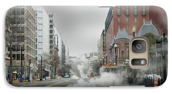 Galaxy Case featuring the photograph City Street On A Rainy Day by Francesa Miller