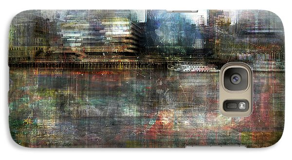 Galaxy Case featuring the photograph Cityscape #33. Silent Windows by Alfredo Gonzalez