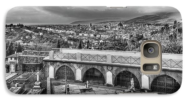 Galaxy Case featuring the photograph Cityscape Of Florence And Cemetery by Sonny Marcyan
