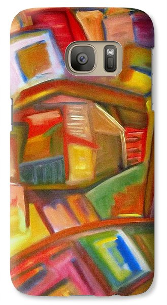 Galaxy Case featuring the painting Citystack by Patricia Cleasby