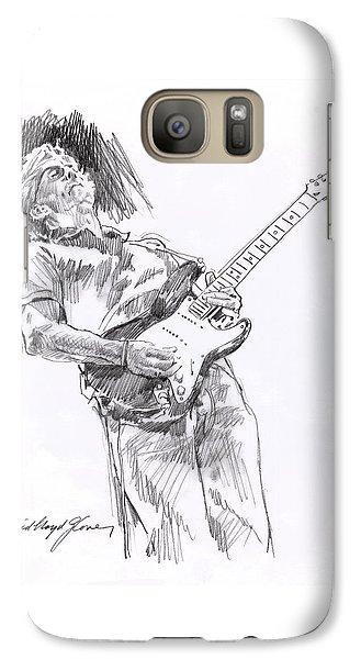 Clapron Blues Down Galaxy S7 Case by David Lloyd Glover
