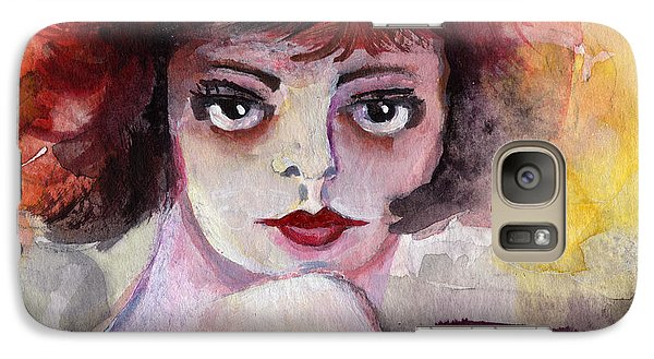 Galaxy Case featuring the painting Clara Bow Vintage Movie Stars The It Girl Flappers by Ginette Callaway