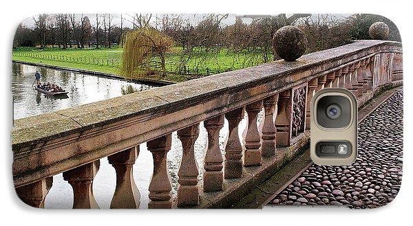 Galaxy Case featuring the photograph Clare College Bridge Cambridge by Gill Billington