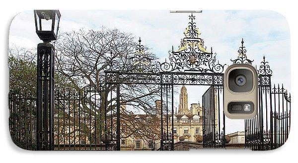 Galaxy Case featuring the photograph Clare College Gate Cambridge by Gill Billington