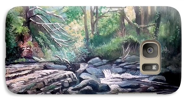 Galaxy Case featuring the painting Clare Glens ,co Tipparay Ireland by Paul Weerasekera