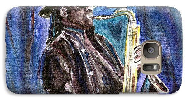Galaxy Case featuring the painting Clarence Clemons by Clara Sue Beym