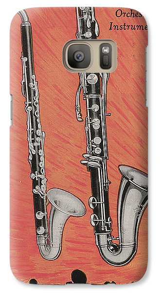 Clarinet And Giant Boehm Bass Galaxy S7 Case by American School