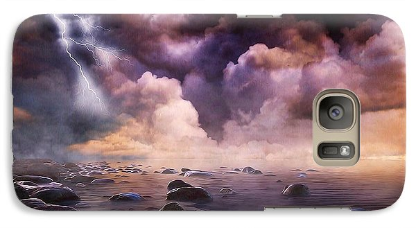 Galaxy Case featuring the mixed media Clash Of The Clouds by Gabriella Weninger - David