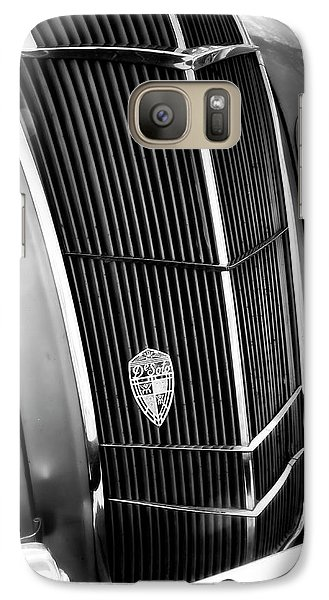 Galaxy Case featuring the photograph Classic Car Grill 1935 Desoto - Photography by Ann Powell