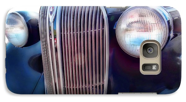 Galaxy Case featuring the photograph Classic Car Grill 1938 Plymouth by Ann Powell