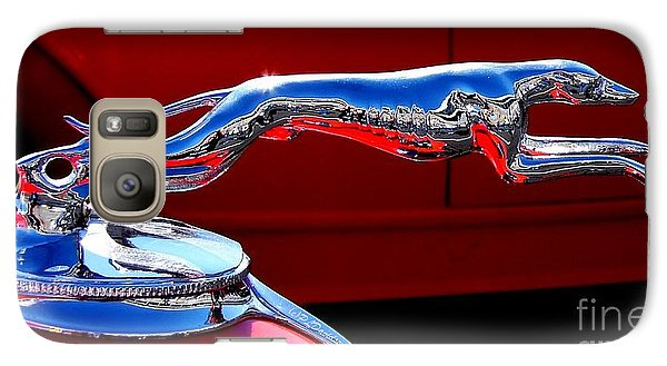 Galaxy Case featuring the photograph Classic Ford Greyhound Hood Ornament by Patricia L Davidson