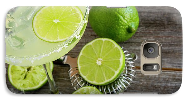 Galaxy Case featuring the photograph Classic Lime Margarita by Teri Virbickis