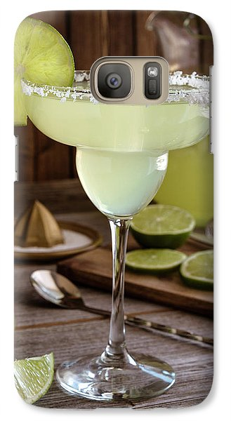 Galaxy Case featuring the photograph Classic Lime Margaritas On The Rocks by Teri Virbickis
