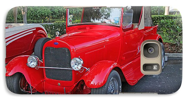 Galaxy Case featuring the photograph Classic Red Ford Truck by Dodie Ulery