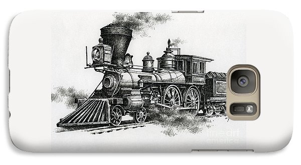 Train Galaxy S7 Case - Classic Steam by James Williamson
