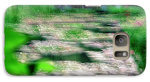 Galaxy Case featuring the photograph Claude Monets Water Garden Giverny 1 by Dubi Roman