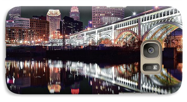 Galaxy Case featuring the photograph Cle In Selective Color by Frozen in Time Fine Art Photography