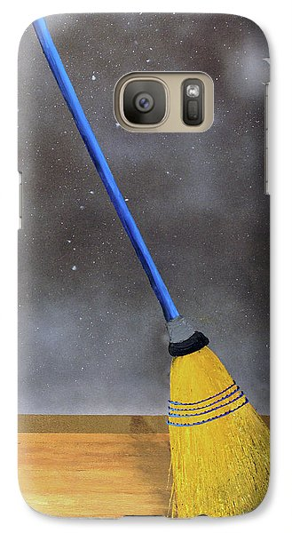 Galaxy Case featuring the painting Cleaning Out The Universe by Thomas Blood