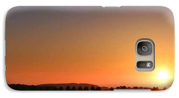 Galaxy Case featuring the photograph Clear Sunset by Franziskus Pfleghart