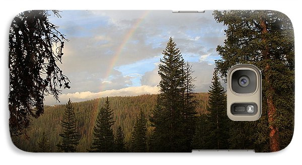 Galaxy Case featuring the photograph Clearing Rain And Rainbow by Edward R Wisell