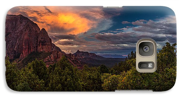 Clearing Storm Over Zion National Park Galaxy S7 Case