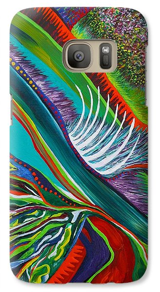 Galaxy Case featuring the painting Cleaving by Polly Castor