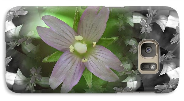 Galaxy Case featuring the photograph Clematis by Keith Elliott