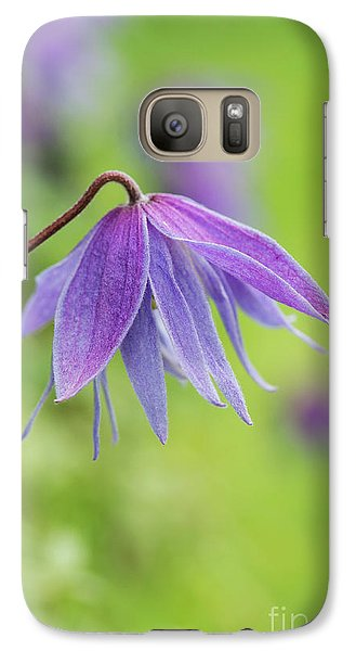 Galaxy Case featuring the photograph Clematis Lagoon Flower by Tim Gainey