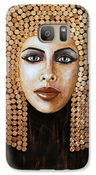 Galaxy Case featuring the painting Cleopatra by Arturas Slapsys